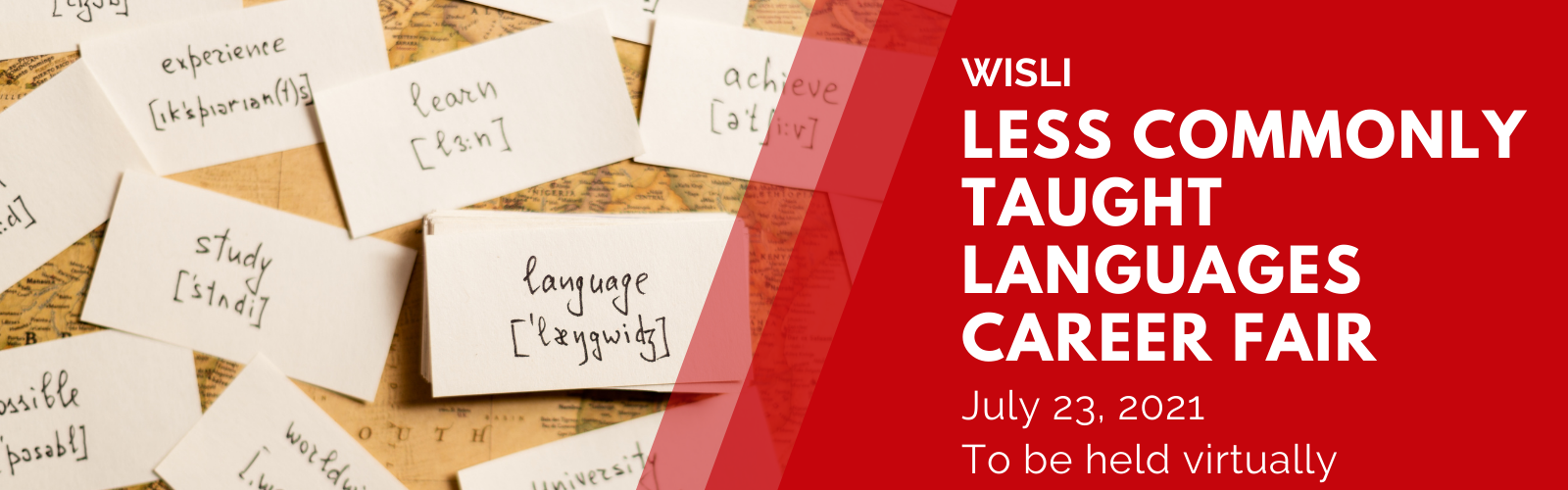 Less commonly taught languages career fair on 2021